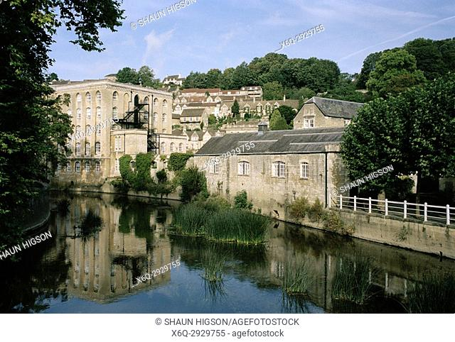 Bradford Upon Avon in Wiltshire in England in Great Britain in the United Kingdom