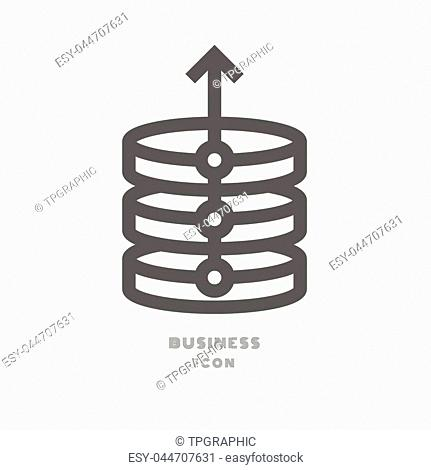 graph Business icon illustration isolated sign symbol thin line for modern minimalistic flat design vector on white background