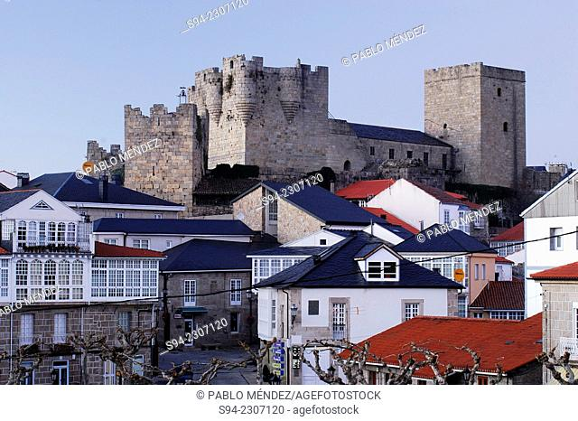 View of the castle of Castro Caldelas in Orense province, Spain