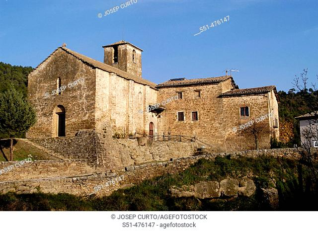 St. Stephen's church, Olius. Solsonès, Lleida province, Catalonia, Spain