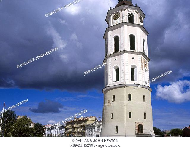 Cathedral Bell Tower, Belfry, Cathedral Square, Old Town, Vilnius, Lithuania