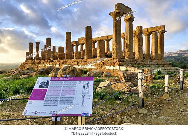Temple of Juno (Tempio di Giunone) Hera. Valle dei Templi (Valley of the Temples). Agrigento Sicily Italy