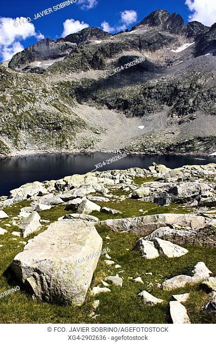 Lago o Ibón de Leners. Valle de Gistaín. Provincia de Huesca. Pirineo Aragonés. España. Europa