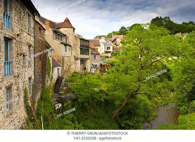 France, Indre (36), Gargilesse-Dampierre village, down La Gargilesse river