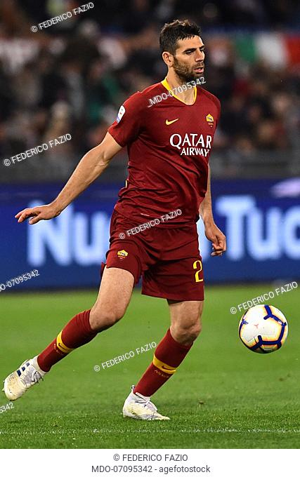 Roma football Federico Fazio during the match Roma-Juventus at the Olimpic Stadium. Rome (Italy), May 12th, 2019