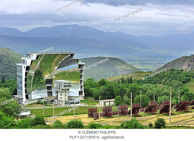 The solar furnace / Four solaire d'Odeillo at Odeillo in the Pyrénées-Orientales, Pyrenees, France