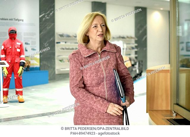 Johanna Wanka (CDU), the German research minister, at a press conference in Berlin, Germany, 29 March 2017. Wanka outlined the German government's future...