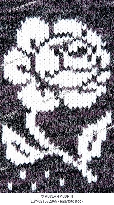 knitted gray background
