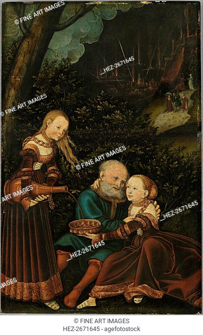 Lot and his Daughters, 1529