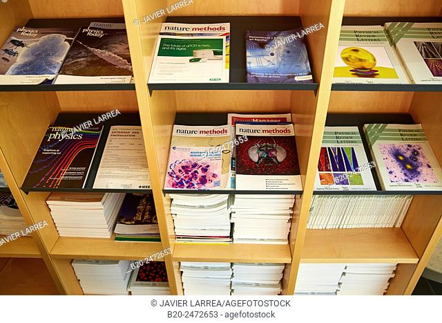 Science Journals. Rest area. CIC nanoGUNE. Nano science Cooperative Research Center. Donostia. San Sebastian. Gipuzkoa. Basque Country. Spain