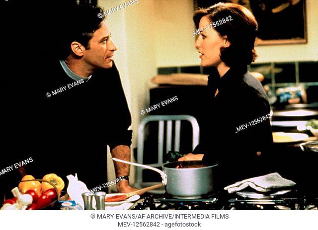 Jon Stewart & Gillian Anderson Characters: Trent & Meredith Film: Playing By Heart (USA/UK 1998) Director: Willard Carroll 18 December 1998