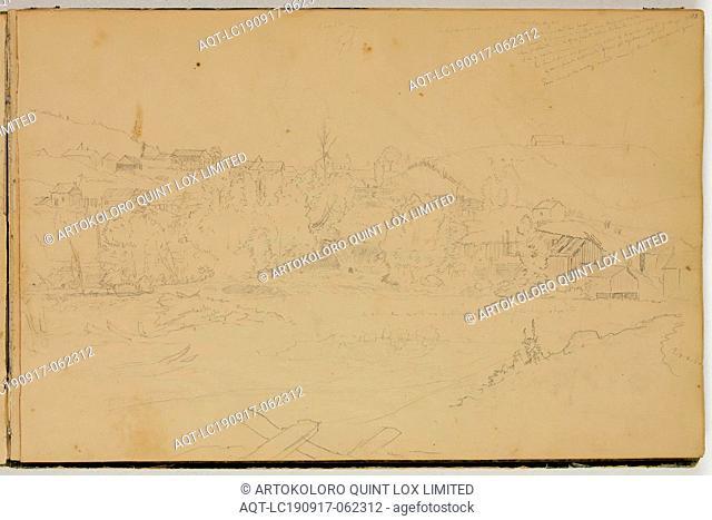 Thomas Cole, American, 1801-1848, Alexandria near Ticonderoga, ca. 1832, graphite pencil on off-white wove paper, Sheet: 8 7/8 × 13 1/2 inches (22