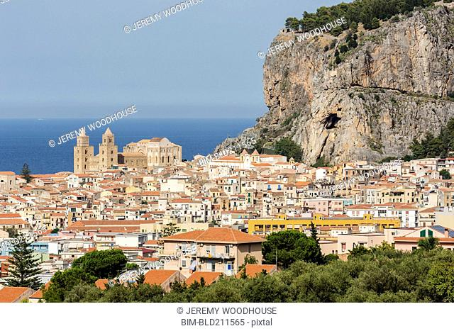 Cityscape, Cefalu, Sicily, Italy