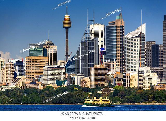 Sydney city skyline, New South Wales, Australia