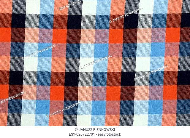 Material in a colorful plaid, a textile background