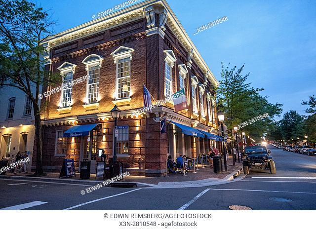Street corner in Old Town Alexandria, Virginia