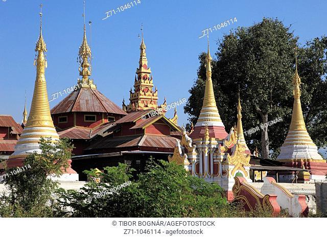Myanmar, Burma, Nyaungshwe, Shwe Zali Pagoda