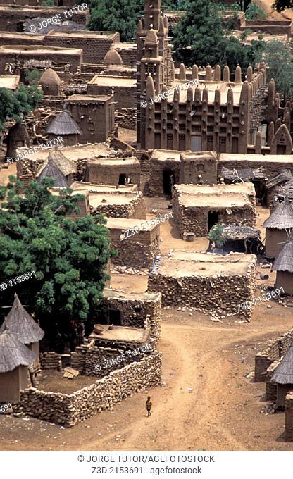 Mud mosque in Teli, Dogon Country, Mali