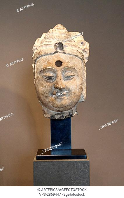 Buddha Pratyeka Head. VI th Century. Sui Dynasty - China. Cernuschi Museum - Paris
