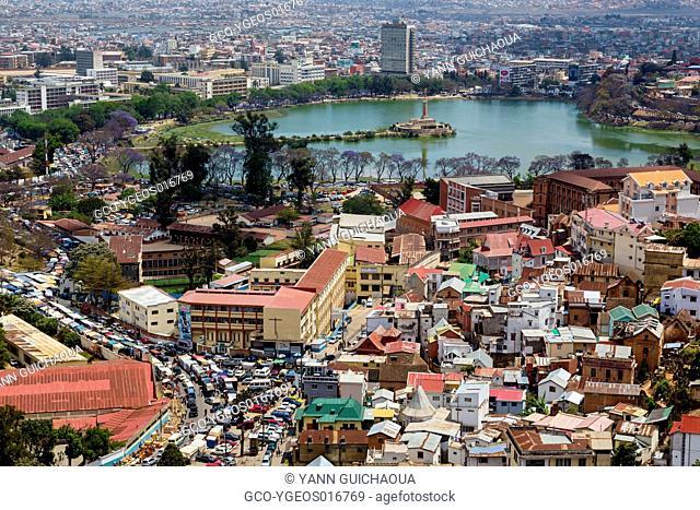 the city from the upper town, Antananarivo, Madagascar