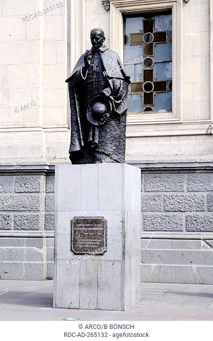 Statue of Jose Maria Caro Rodriguez, cathedral, Santiago de Chile, Chile / Cardinal, Cardenal Primado de Chile