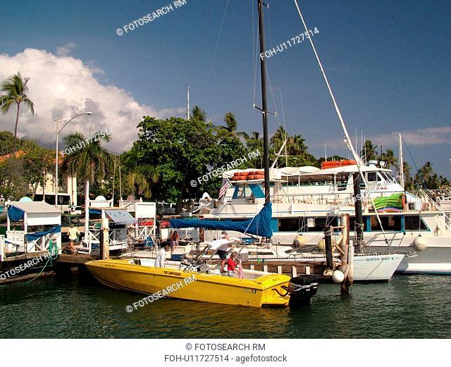 Lahaina, Maui, HI, Hawaii, Lahaina Harbor, marina