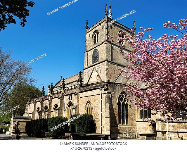 St Johns Church in Spring Knaresborough North Yorkshire England