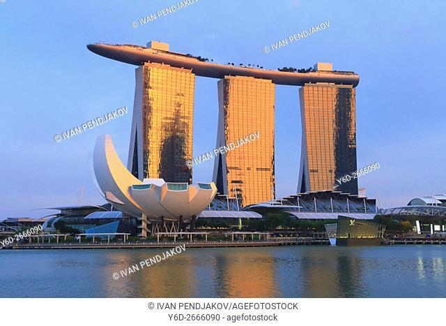 Marina Bay Sands at Sunset, Singapore
