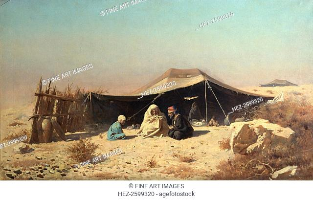 Arabs in the desert. Koran Study. Found in the collection of the State Art Museum, Odessa