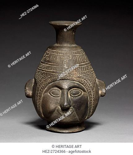 Bottle Vase, c. 1400. Creator: Unknown