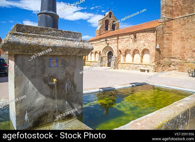 San Andres church. Romanillos de Atienza, Guadalajara province, Castilla La Mancha, Spain