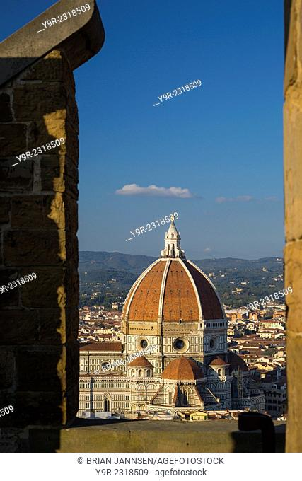 View of the Duomo from Palazzo Vecchio, Florence, Tuscany, Italy