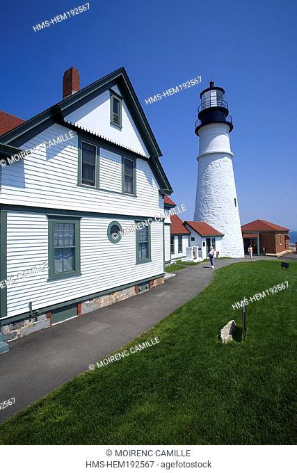United States, Maine, Cape Elizabeth, Portland Head Lighthouse