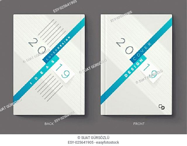 Vector annual report, brochure, flyer or booklet cover design template. Modern corporation simple and colorful layout design