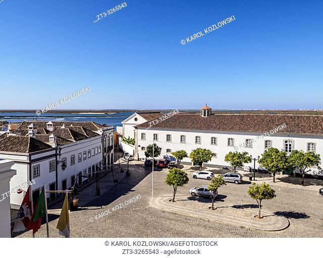 Largo da Se, elevated view, Faro, Algarve, Portugal