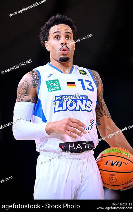 Action portrait, action portrait Daniel Alexander Norl (Lions). GES / Basketball, PRO A: PS Karlsruhe LIONS - Artland Dragons, October 17