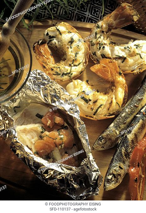 Assortment of Grilled Seafood