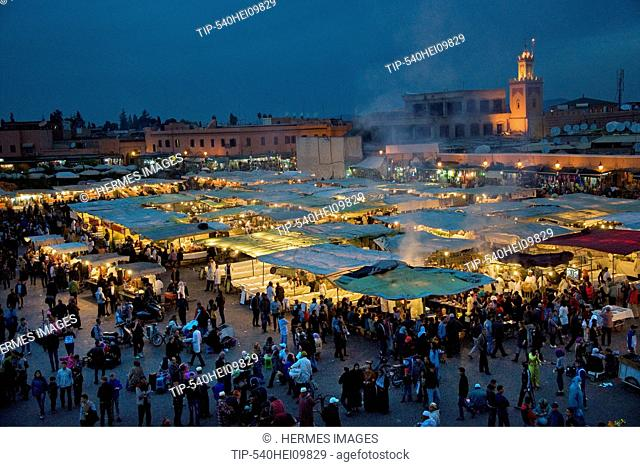 Morocco, Marrakech, Place Djemaa el-fna, Daily life