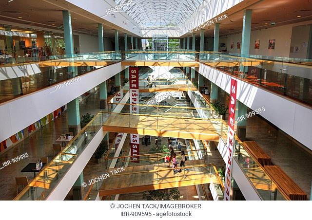 Gedimino9, exclusive shopping mall on Gedimino Prospektas, interior, Vilnius, Lithuania, Baltic States, Northeastern Europe