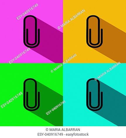 Clip icon with shade on colored backgrounds