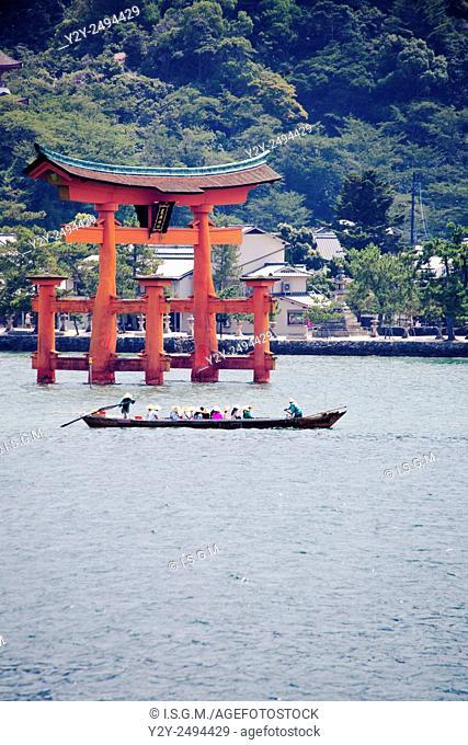 Miyajima door, at 50km of Hiroshima, World Heritage by UNESCO, Japan