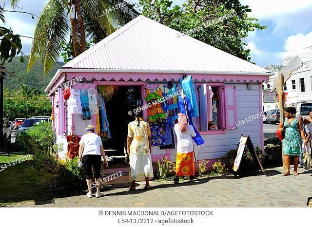 Gift Shops Road Town Tortola BVI Caribbean Cruise Colorful