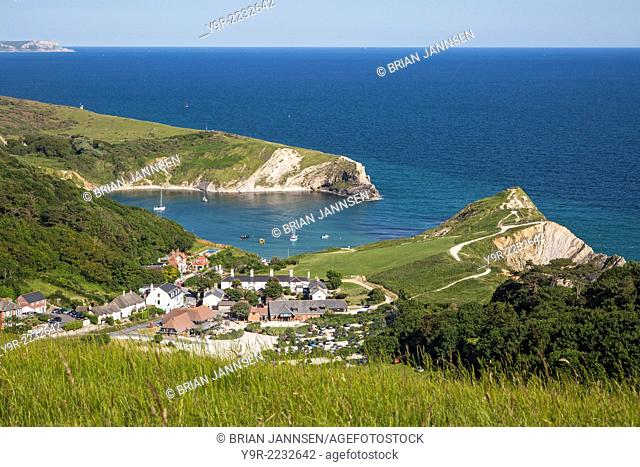 View over Lulworth Cove, Jurassic Coast, Dorset, England