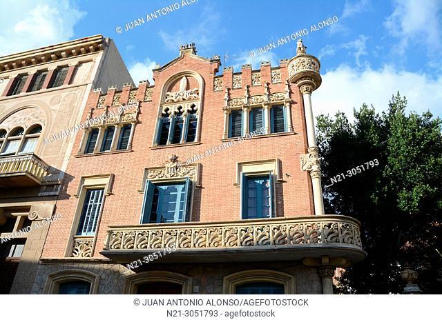 Architect Lluis Domenech i Montaner's Casa Rull. Reus, Tarragona, Catalonia, Spain