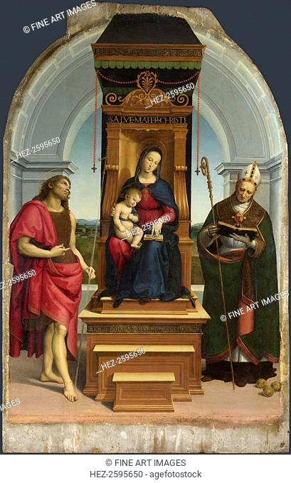 The Madonna and Child with Saint John the Baptist and Saint Nicholas of Bari (The Ansidei Madonna), 1505. Found in the collection of the National Gallery