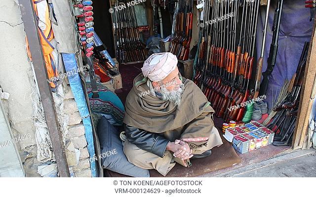 gunshop in kabul, afghanistan