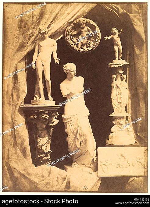 [Still Life with Statuary]. Artist: Hippolyte Bayard (French, 1801-1887); Date: Early 1850s; Medium: Albumen silver print from glass negative; Dimensions:...