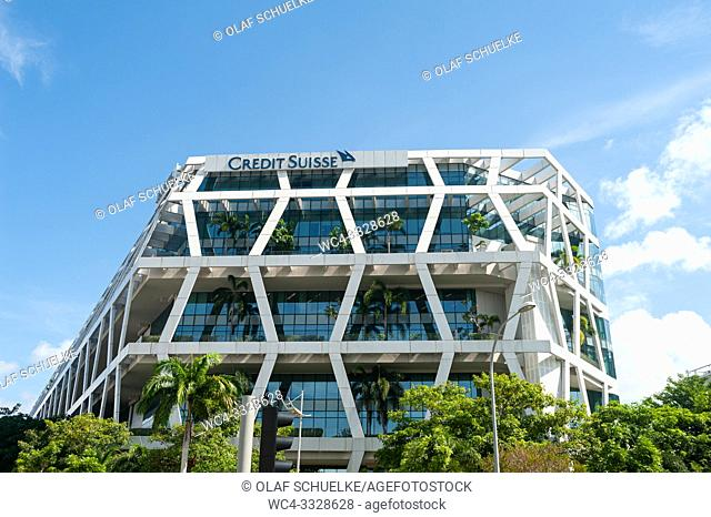 Singapore, Republic of Singapore, Asia - Modern Credit Suisse bank building at Changi Business Park