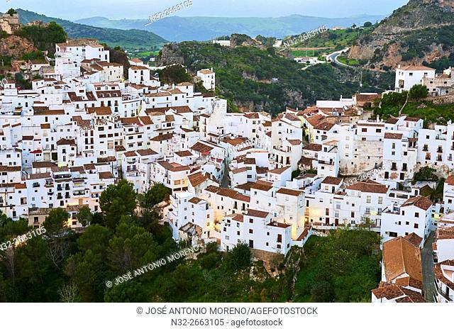 Casares, Dawn, Costa del Sol, Malaga Province, Andalusia, Spain