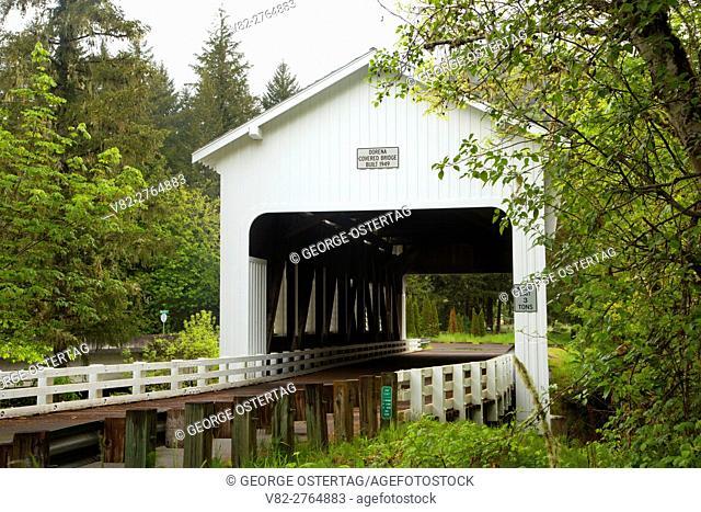 Dorena Covered Bridge, Lane County, Oregon